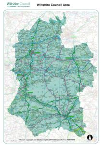 Wiltshire outline map